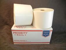"""2 Rolls FedEx UPS 4x6.75 Perforated Thermal Shipping Label 1"""" Core 500 Per Roll"""