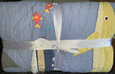 New~Pottery Barn Shark Party~Fish Quilt~Full Queen F/Q