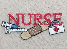 Red Nurse - Needle/Bandaid/First Aid/Nursing Iron on Applique/Embroidered Patch