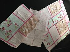 PINK DOUBLE SIDED DOUBLE BEDDING PATCHWORK STYLE