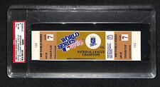 1985 WORLD SERIES GAME 7 FULL TICKET ROYALS 1ST WS TITLE CLINCHER HISTORY PSA 8
