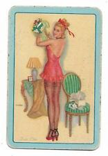 *TRES CHIC* X 1 ONLY SINGLE VINTAGE E.N.N. PLAYING/SWAPCARD....FORTIES PIN-UP
