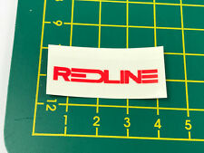 old school bmx decals stickers redline forklifter stem red clear