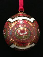 Hochst Indian Porcelain Ball Christmas Ornament Made In Germany Nib