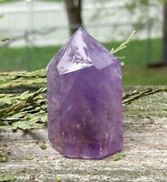 43g NATURAL AMETHYST QUARTZ CRYSTAL POLISHED HEALING WAND  Reiki  S.Africa