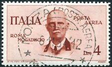 ITALY-1934 Roma Mogadiscio Flight 4 Li Brown Sg 446 VERY FINE USED V29453