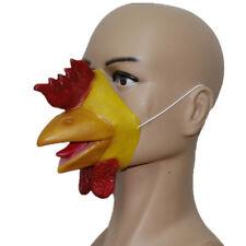 Rooster Chicken Cockerel Latex Mask Beak Animal Farm Fancy Dress Stag Hen Party