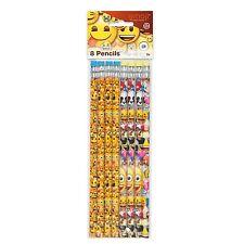 Emoji Emoticons Children's Birthday Party 8 x Pencils Loot Favor Treat