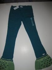NWT Naartjie Ballet Beauty Rib Pants Print Trim Hip Green Jasper Size 9 NEW
