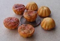 1:12 Single Individual Open Top Meat & Vegetable Pie Dolls House Miniature Food