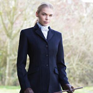 "Equetech Kimblewick Navy Wool Twill Riding Jacket Hunt Coat - 32-46"""