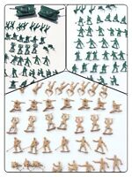 Vtg Marx? Plastic Army Men Soldiers Green Tan MULTIPLE POSES + 2 TANKS LOT