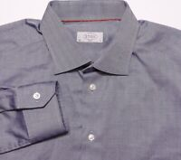 ETON OF SWEDEN Slim Fit Long Sleeve Dress Shirt Blue 17 36