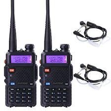 2pcs BaoFeng UV-5R Dual-Band Ham 2 Way  Radio Walkie Talkie +  Air Tube Earpiece