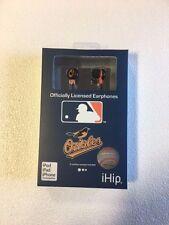 Baltimore Orioles iHip Noise Isolating Earphones Earbuds - iPhone iPod NEW