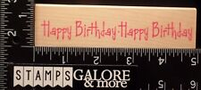 HERO ARTS USED RUBBER STAMPS H2950 LONG HAPPY BIRTHDAY - GREETING - PARTY