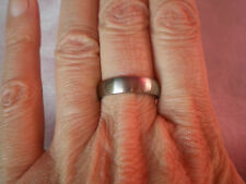 Ladies Titanium wedding band 5mm, size N/O, set in 3 grams of Titanium