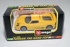V 1:43 BBURAGO BURAGO 4182 FERRARI F50 F 50 HARD-TOP YELLOW MINT BOXED