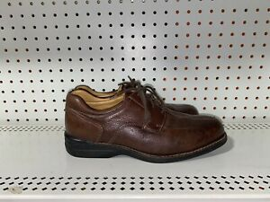 Johnston & Murphy Shuler Mens Leather Casual Dress Shoes Oxfords Size 8 M Brown