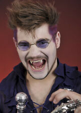 Gothic Vampire Dracula Round Purple Glasses