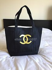 New Auth Chanel Beauté Black & Gold Makeup Tote Bag VIP Gift