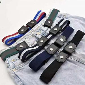 Invisible Belt Without Buckle Seamless Lazy Belt Elastic Jeans Belt Decorat E-