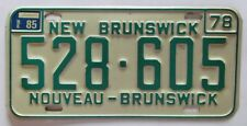 New Brunswick 1985 License Plate HIGH QUALITY # 528-605