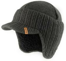 Scruffs WARM WINTER PEAKED BEANIE HAT Soft Sherpa Wool Effect Lining GREY