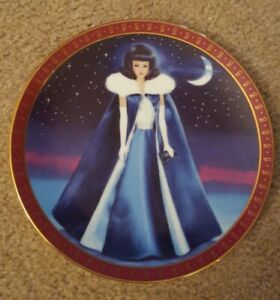 """Danbury Mint High Fashion Barbie Collector's Plate """"Midnight Blue"""" Lmted edition"""