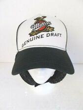 Miller Genuine Draft Baseball Cap Snap Back 100% Cotton Faux Fur Ear Flaps NWOT