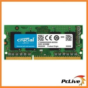 Crucial 1x4GB DDR3 SODIMM 1600MHz 1.35V Dual Ranked Single Stick Notebook RAM