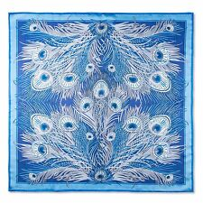 Liberty of London Blue Hera Printed Silk Scarf Made In Italy RRP £195