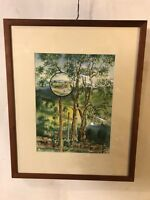 """Painting Watercolor """"Mirror"""" Emma Lou Martin 17""""X21"""""""". C12pix4details.MAKE OFFER"""