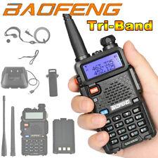 BAOFENG UV-5R III Tri-Band Walkie Talkie Long Range Two Way Ham Radio Upgraded