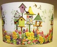 Bird table Lampshade pretty floral light shade Shabby Chic FREE GIFT