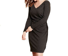 New RALPH LAUREN 20W plus size houndstooth check dress charcoal black ponte $235