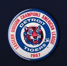 Detroit Tigers 1987 Eastern Division Champions American League pinback button