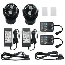 2Packs Jebao RW15 PP-15 Reef Wave Maker With Controller Wireless Powerhead Pump