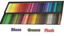 Polychromos Artists' colour pencils - blues, greens and flesh