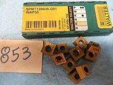 10 NEW Walter Tiger-Tec  SPMT120606-D51  WAP35 Carbide Inserts  *853*