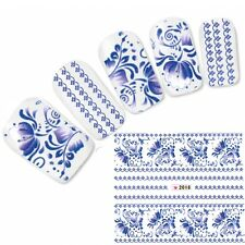 Tattoo Nagel Sticker Blumen French Aufkleber Nail Art Flower Nägel Fleurs