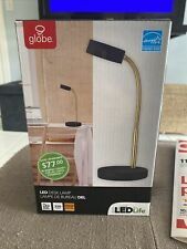 Globe Electric 30061 Black 5W Led Desk Lamp With Integrated 3000K Led Lamping