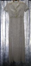 PAUL & AND JOE long blanc robe de mariée 8-10 £ 495 Victoriana Vintage Thé
