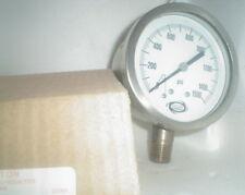 "4"" Solar Weston 0-1500 PSI Stainless steel 1/2npt gauge bottom mount 1500psi"