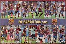 "Fc Barcelona ""18 Shots Of 2014 Players"" Poster - Soccer, Uefa League Football"