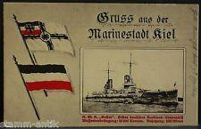 Kiel,Holst.,Marine Schiff Kaiser,Kriegsflagge,Fahne,Ansichtskarte von 1915