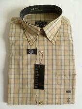 NEW Men's VAN HEUSEN Yellow Gray Casual Dress Shirt size SMALL plaid