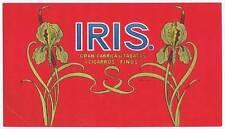 Iris inner cigar label Cran Fabrica de Tabacos y Cigarros Finos Flower