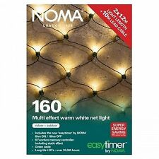 Noma Christmas Xmas Indoor/Outdoor 160 Multi Effect Net Light Timer -Warm White