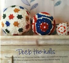 CROCHET PATTERN Christmas Baubles Giant Bauble Snowflake Hexagon Square 3 Sizes